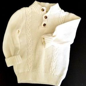 Boy's cream sweater